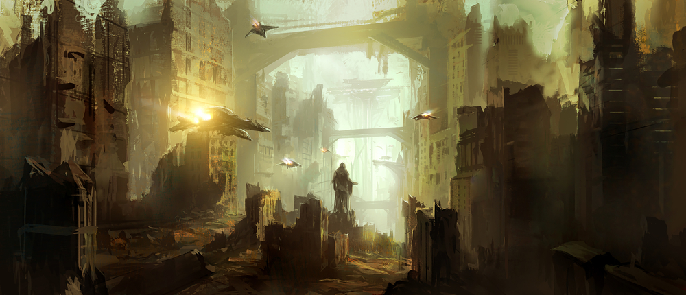 science fiction ruins