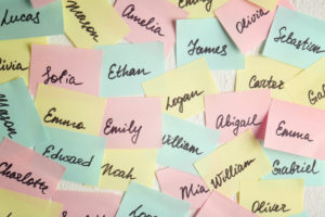 names on post its