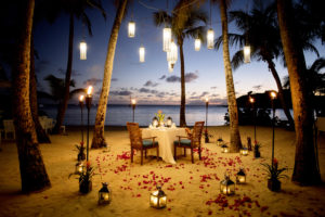 romantic setting