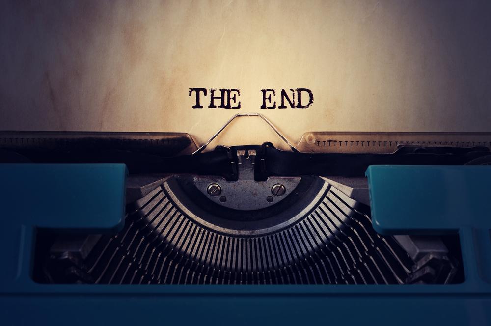 the end typewriter